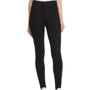 Black Levi's Mile High Super Skinny Jeans